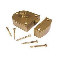 KV 989 SPR BR, Aluminum Door Latch, 2-3/8 W x 2in H, Brass, Knape and Vogt