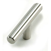 "Melrose T-Knob 2"" Long Stainless Steel Laurey 89013"