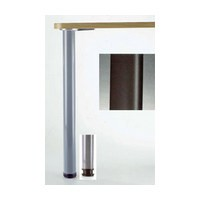 Meier 615-7S-19, 2-3/8 dia., Steel Table Leg, 27-3/4 Height with 1-1/8 Adjustment, Hamburg Series, Matte Black