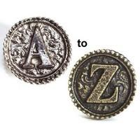 Emenee OR241ABS, Knob, Q, Antique Bright Silver