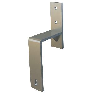 WE Preferred 77919 53 103 Bypass Door Brackets Flat Rail, Oil Rubbed Bronze