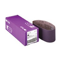 3M 51144814015 Portable Sanding Belts, Ceramic on Y-Weight Cloth, 3 x 21in, 80 Grit