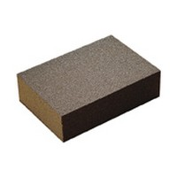 3M 51115069673 Sanding Sponges, Aluminum Oxide, 4 Sided Block, Medium Grit