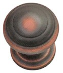 """Hickory Hardware P2286-OBH, Oil Rubbed Bronze Highlighted 1"""" Knob, Zinc Die Cast"""