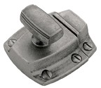 "Amerock BP55315AP, Antique Pewter 1-3/5"" Latches, Zinc Die Cast, Centers 1-3/5"""