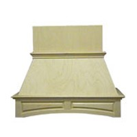 VMI FDWHAP48-M, 50-1/2 Premium Arched Raised Panel Wood Range Hood, Air Pro, Maple, 50-1/2 W x 19-1/2 D x 40-1/2 H