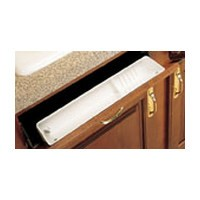 Rev-A-Shelf LD-6591-30-15-1, 30in Polymer Sink Tip-Out Tray Set, Lazy Daisy, Almond, Incl: 1 Accessory Tray and, 1-Pr of 45-Degree Pivot-Out Hinges