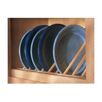 Omega National P2201HUF2, 24in Plate Display Rack - Angled, Hickory, (1) Pair per Pack (front/back)