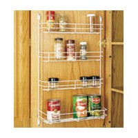 Rev-A-Shelf 565-10, 10-5/8 W White Wire Spice Rack, Door Mount, 20-Pk