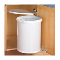 KV TM32-W 32QT Pivot-Out Trash Pull-Out, White, Knape and Vogt