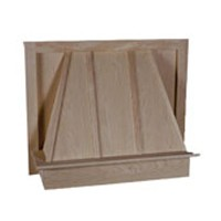 Hoffco BVI109, 30 W Wood Range Hood, Maple, 30 W x 24 H x 9-1/4 D
