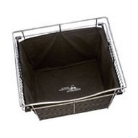 Rev-A-Shelf CHBI-242018-3, Hamper Insert, 24in W x 20 D x 18 H for Wire Closet Baskets, Black