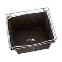 Rev-A-Shelf CHBI-241418-3, Hamper Insert, 24in W x 14 D x 18 H for Wire Closet Baskets, Black