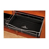 Rev-A-Shelf CBL-241211-B-3, Closet Basket Cloth Liner, 24 W x 12 D x 11 H, Black
