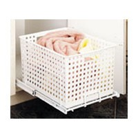 Rev-A-Shelf HUB-470X8, Replacement Hamper Basket, HURV Series 12-1/2 W x 18 D x 10-3/4 H, White