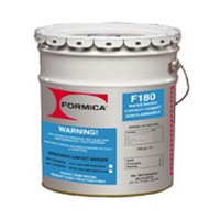 WE PREFERRED F-180-01, 1 Gallon F180 Bulk Contact Adhesive, Waterborne Brush, Roller & Spray Grade, Premium 50% Solids, Clear