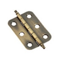 Amerock CM2355AE Bulk-200 Pairs, 2in Butt Hinge, Finial Tip, Antique English