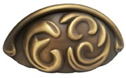 "Schaub and Co 834-ALB, Antique Light Brass 3-3/4"" Pull, Solid Brass, Centers 3"""