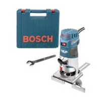 Bosch PR20EVSK, Router, Palm Style, Variable Speed 16,000 – 35,000 RPM, 1 HP, 5.6 Amps, Soft Start and Quick-Lock, 1/4 Collet Capacity