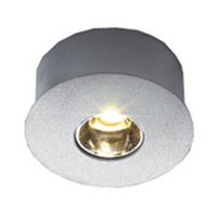 Hera 1W Eye-LED Series LED Puck Light, Warm White, Brushed Aluminum, EYELEDA/WW