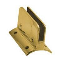 Lavi 00-812/1H, Bar Railing, 1/4 Glass Clips, Solid Brass, 1-1/2 W x 1-1/2 H, Fits Railing dia.: 1-1/2, Bright Brass