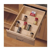 KV SPICETRAY13, 13-1/8 Wood Spice Tray Insert, KV Series, Birch Veneer, 13-1/8 W x 1-13/16 H x 19-1/2 D, Knape and Vogt