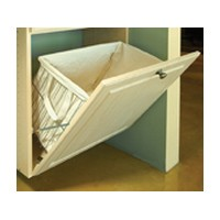 Knape and Vogt KV HS191613W-450FS, 16 W Tilt-Out Wire Hamper Basket, White