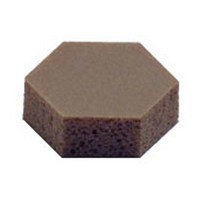 3M 21200425837 Hexagonal Polyurethane Bumpers, Self-Adhesive, .433 dia. x 0.125 H, Light Brown, 132 per sheet