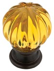 Liberty Hardware P30104-100-C, Statuary Bronze & Amber 1-1/4