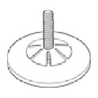 Reeve 86-A, Hangrod Endcaps, Chrome, 100-Pack