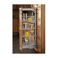 Rev-A-Shelf 5750-14 CR, 14-3/4 W Chrome Wire Pantry Pull-Out with Soft-Close, 4-Baskets