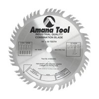 Amana Tool MD10-500 10in Ripping and Crosscut Combination Saw Blade, Carbide Tipped, 50T, 4  ATB and 1 Raker, 10-deg, 5/8 Inch Bore
