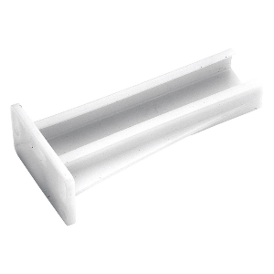 White Bracket for Belwith P1700-W drawer slides on face frame cabinets, Plastic