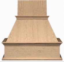 VMI FDWH IS 30 RO Decorative Range Hood, Island, Red Oak