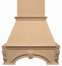 VMI FDWHKS 30 RO Decorative Keystone Range Hood, Wall, 30in, Red Oak