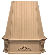 VMI FBBWHVK 36 M Bead Board Victorian Range Hood, Wall, 36in, Maple