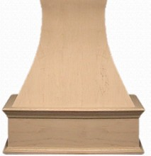 "VMI FDWHDC IS 36 H, 36"" Decorative Curve Island Wood Hood, Hickory"