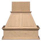 "VMI FDWHRP01IS 42 H, 42"" Upper Raised Panel Island Wood Hood, Hickory"