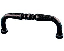 WE Preferred 1734-1DWI-P Traditional Handle, Centers 3in, Dark Wrought Iron, ZZ Series