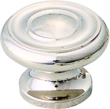 "Schaub and Co 704-PN, Polished Chrome 1-1/2"" Knob, Solid Brass"