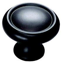 "Schaub and Co 711-10B, Oil Rubbed Bronze 1-1/4"" Knob, Solid Brass"