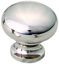 "Schaub and Co 706-PN, Polished Nickel 1-1/4"" Knob, Solid Brass"