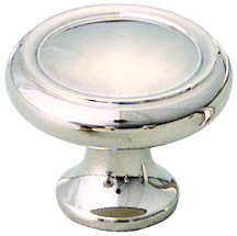 "Schaub and Co 711-PN, Polished Nickel 1-1/4"" Knob, Solid Brass"