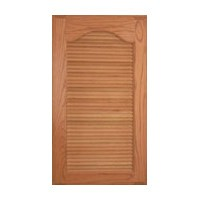Omega National L1001OUF1, Machined Wood Door Inserts, Louver Panel Kits, 36 Wide Slants, Oak