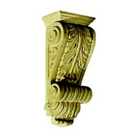 CVH International C720-10-M, Hand Carved Wood Corbel, Narrow Acanthus Collection, 3-1/2 W x 2-5/8 D x 10 H, Maple