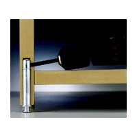 Meier 306-02-00, 1-5/8 L, Concealed Metal Furniture Leveler with Height Adjustment, 14mm dia., One Piece, HD