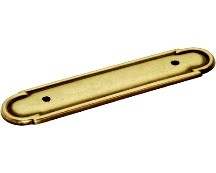 Belwith P273-LP Backplate for Handle, Centers 3in, Lancaster Brass, Tranquility Series