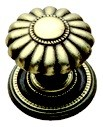 Belwith G2-06 Round Design Knob, dia. 1-1/4, Brass, Beaded Classic
