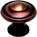 """Euro Traditions Knob 1-3/16"""" Dia Brushed Antique Copper Berenson 2923-1BAC-P"""