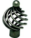 Berenson 9964-2AP-P Birdcage Knob, dia. 1-3/8, Pewter French Iron, Provence Series